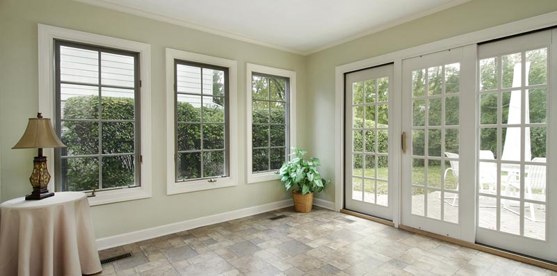 patio slider inside with white doors and windows